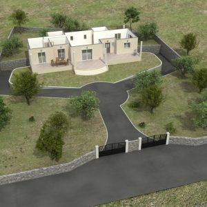 Παράδειγμα σταδιακής σχεδίασης πρώτου ορόφου και όρια οικοπέδου