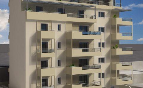 Τρισδιάστατο προοπτικο μεγάλης αρχιτεκτονικης κατασκευής