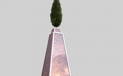 Εικαστικό άγαλμα στη Θεσσαλονίκη 3d σχέδιο