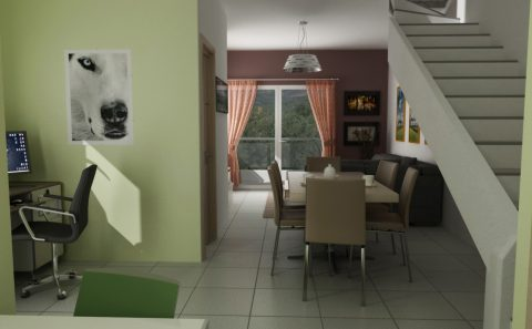 Δωμάτιο κατοικίας 3d εικόνα