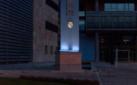 Ένθεση του αγάλματος στη φωτογραφία, νυχτερινή προσομοίωση