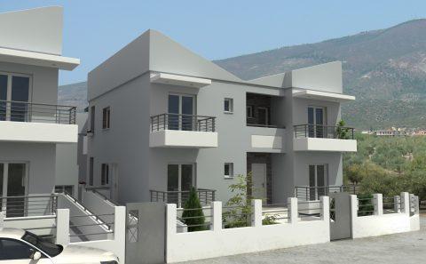 Κατοικία με εσωτερικό ριχτη σκοπών 3d