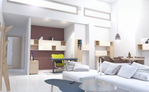 Επιπλωμένο τρισδιάστατο σαλόνι 3d