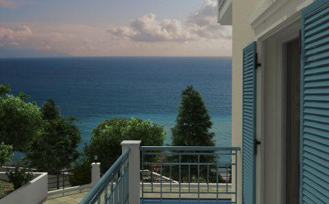 Πλάγιο μπαλκόνι θέα προς την θάλασσα 3d