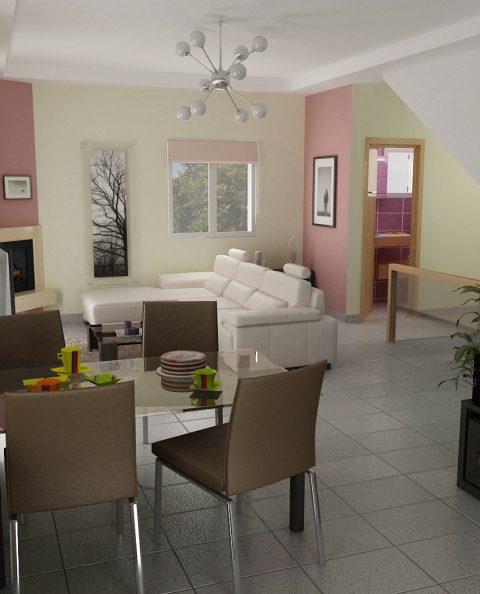 Άποψη από την κουζίνα γραφιστική εικόνα