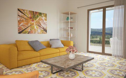 Σύγχρονο σαλόνι 3d