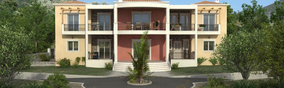 Αρχιτεκτονικος φωτορεαλισμος ελληνικών σπιτιών