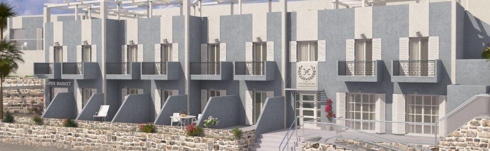 Τετραστερο ξενοδοχείο τρισδιάστατο σχέδιο