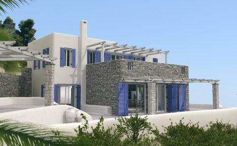 Μελλοντική εμφάνιση κατοικίας μελέτη πριν την κατασκευή