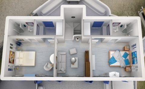 Όροφος κατοικίας χωρίς ταράτσα