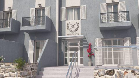 Είσοδος παραδοσιακού νησιώτικου ξενοδοχείου