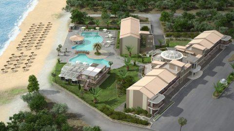Μελλοντική τρισδιάστατη σύνθεση ξενοδοχείακης μονάδας στη Θάσο