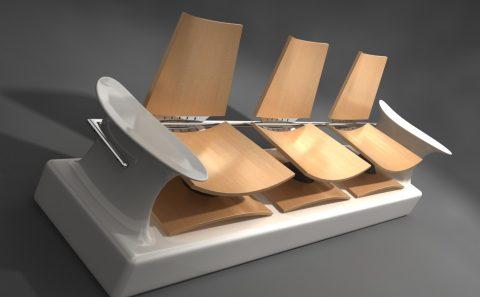 Τρισδιάστατη μοντελοποίηση εσωτερικών καθισμάτων mall, παρουσίαση ιδέας για διαγωνισμό