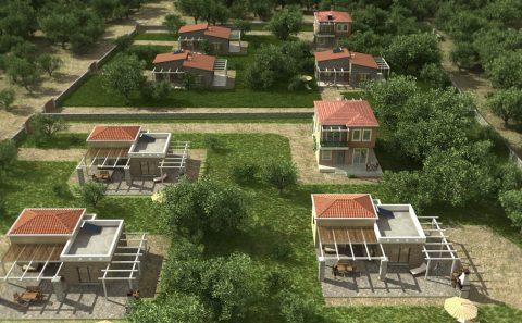 Συγκρότημα πέτρινων εξοχικών κατοικιών