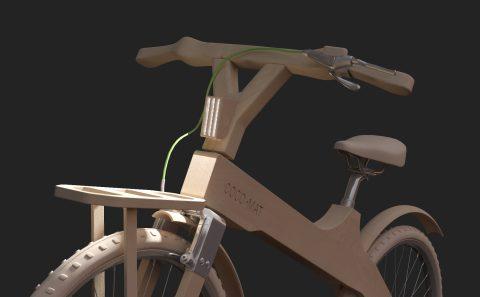 Εικονική προσομοίωση του ποδήλατου της Coco-mat με τα φώτα αναμένα